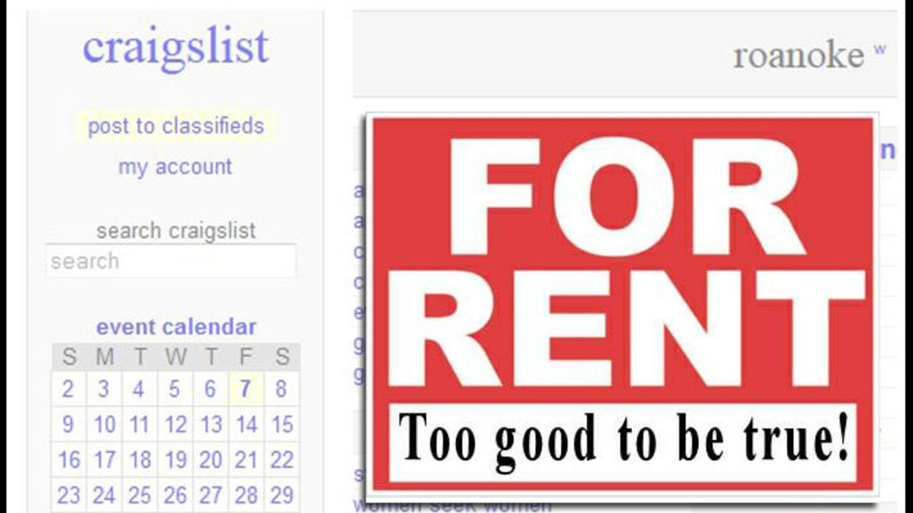 Scammers copy for rent ads on Craigslist org, re post with