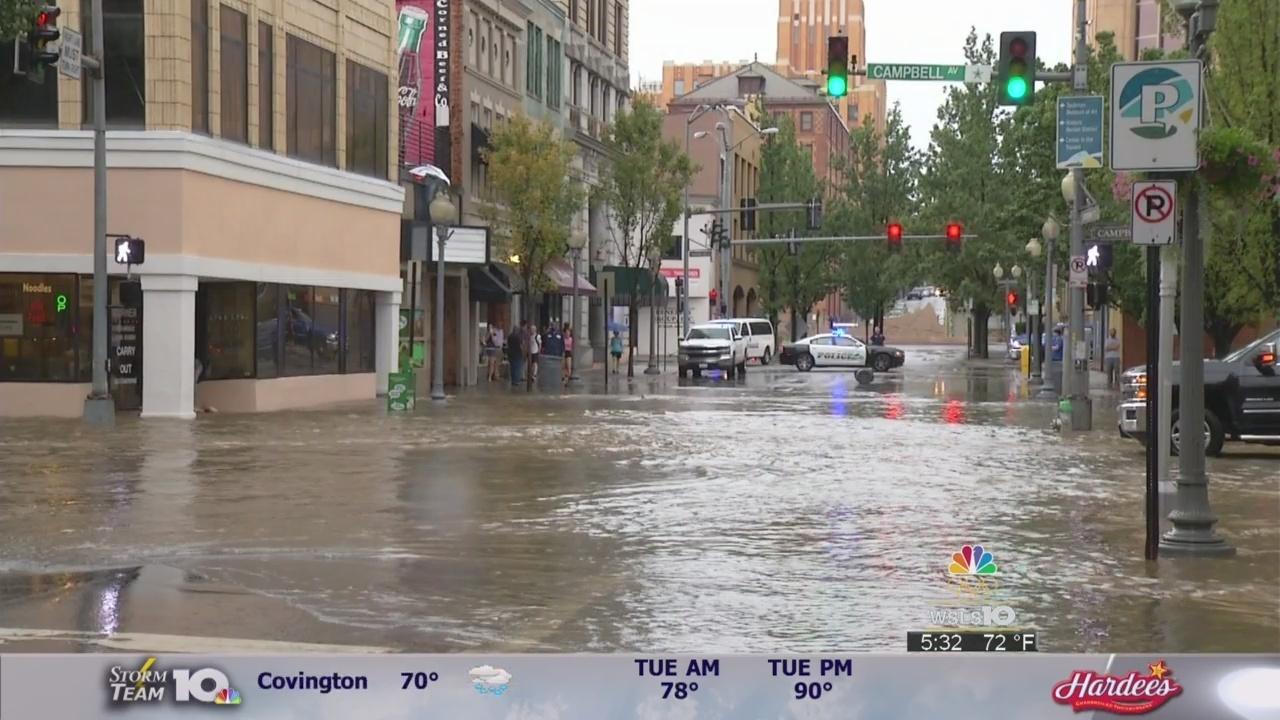 Heavy Rain Leads To Flash Flooding In Roanoke