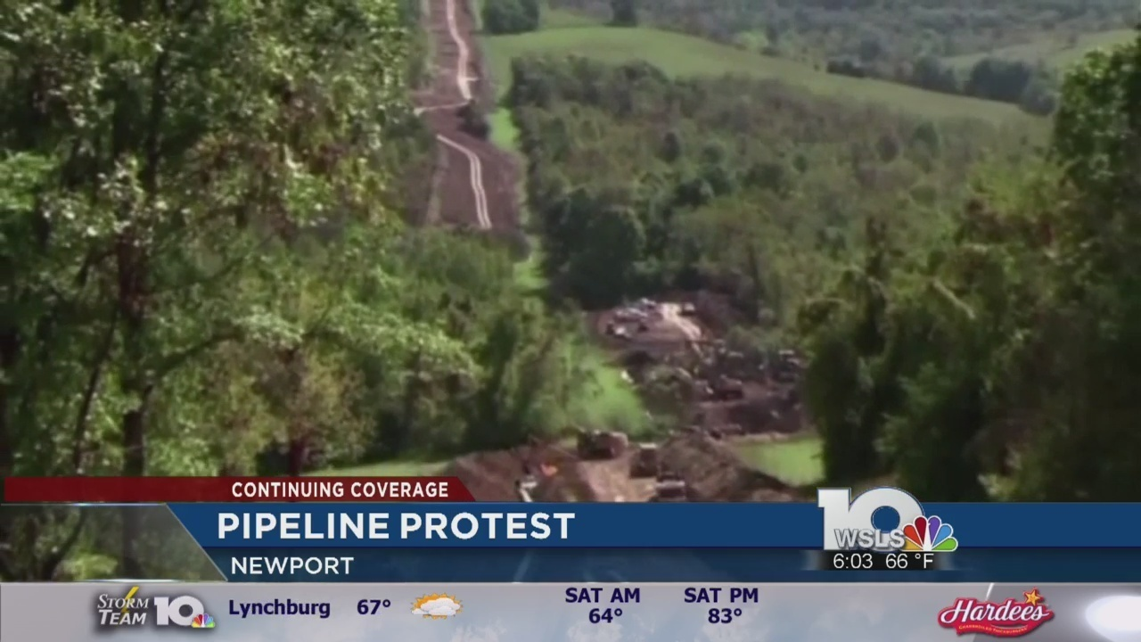 demonstrators protest against mountain valley pipeline