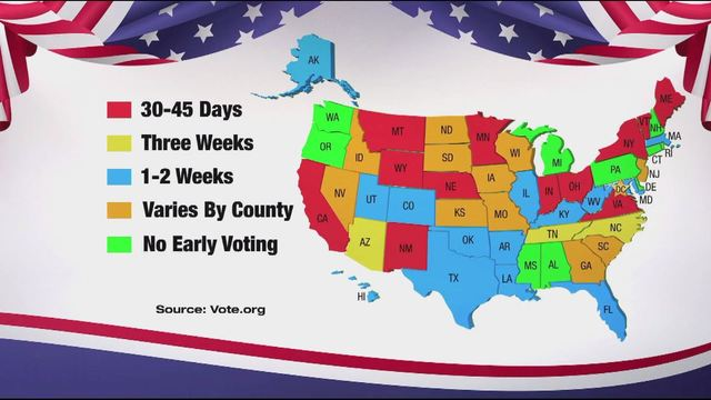 2016 early voting laws vary state to state. (Graphic_ MGFX)_186352