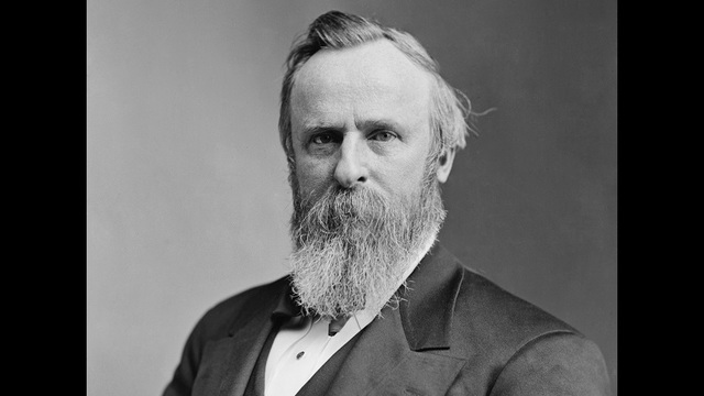 White House portrait of Rutherford Hayes, the 19th president of the United States. (Public Domain)_186903