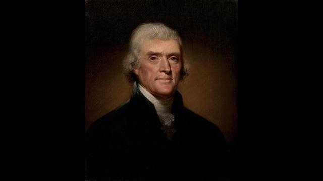 White House portrait of Thomas Jefferson, the third president of the United States. (Public Domain)_186908
