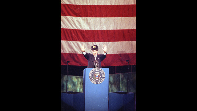 Actor Dana Carvey as President George Bush hosts the ninth annual MTV Music Video Awards ceremony in Los Angeles, Ca., on Wednesday, Sept. 9, 1_187394