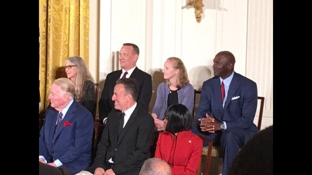 Award recipients listen as President Obama speaks at the White House_188776