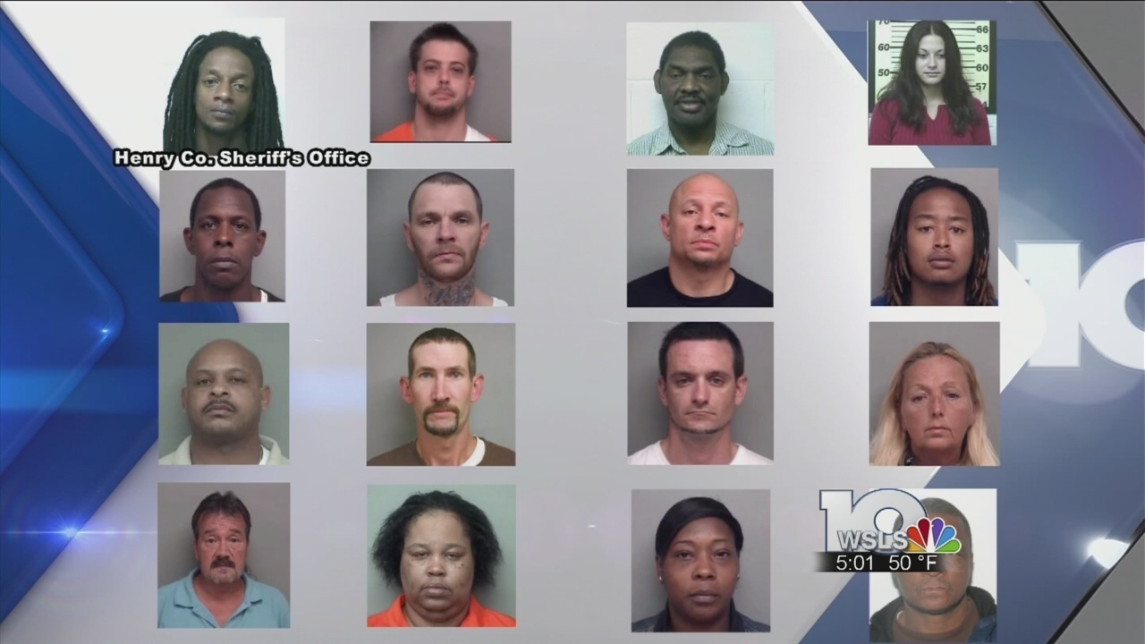 16 arrested, authorities searching for eight others in