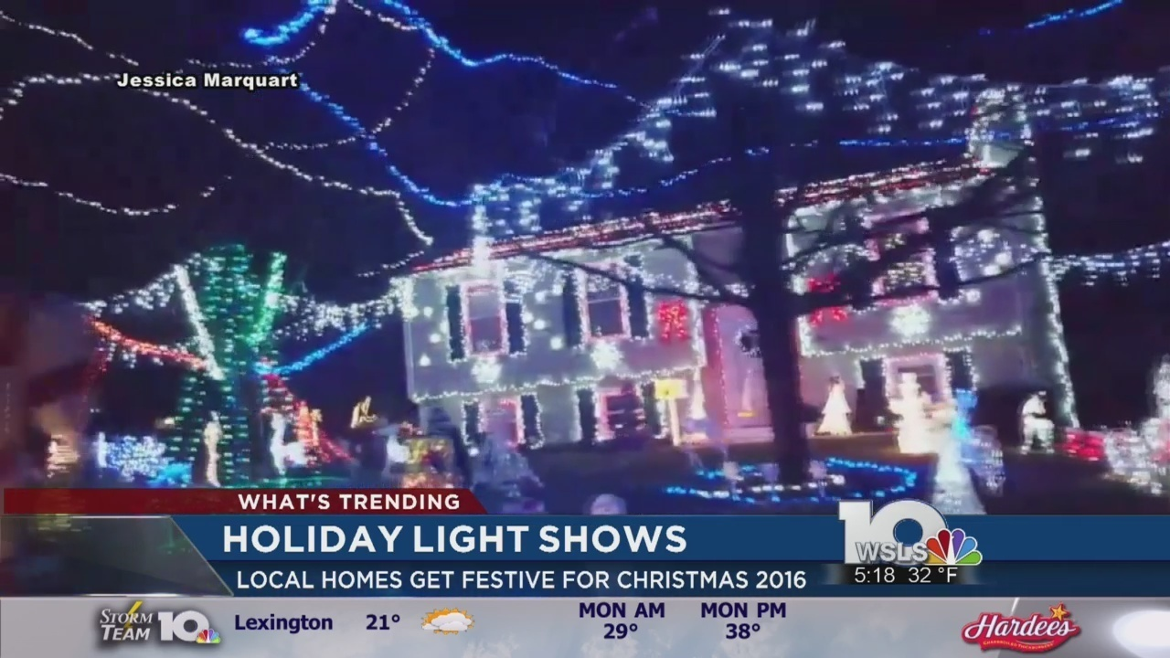 residents in swva showing off christmas light displays - Local Christmas Light Shows