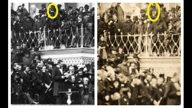 These two photos allegedly prove John Wilkes Booth attended President Abraham Lincoln_191643