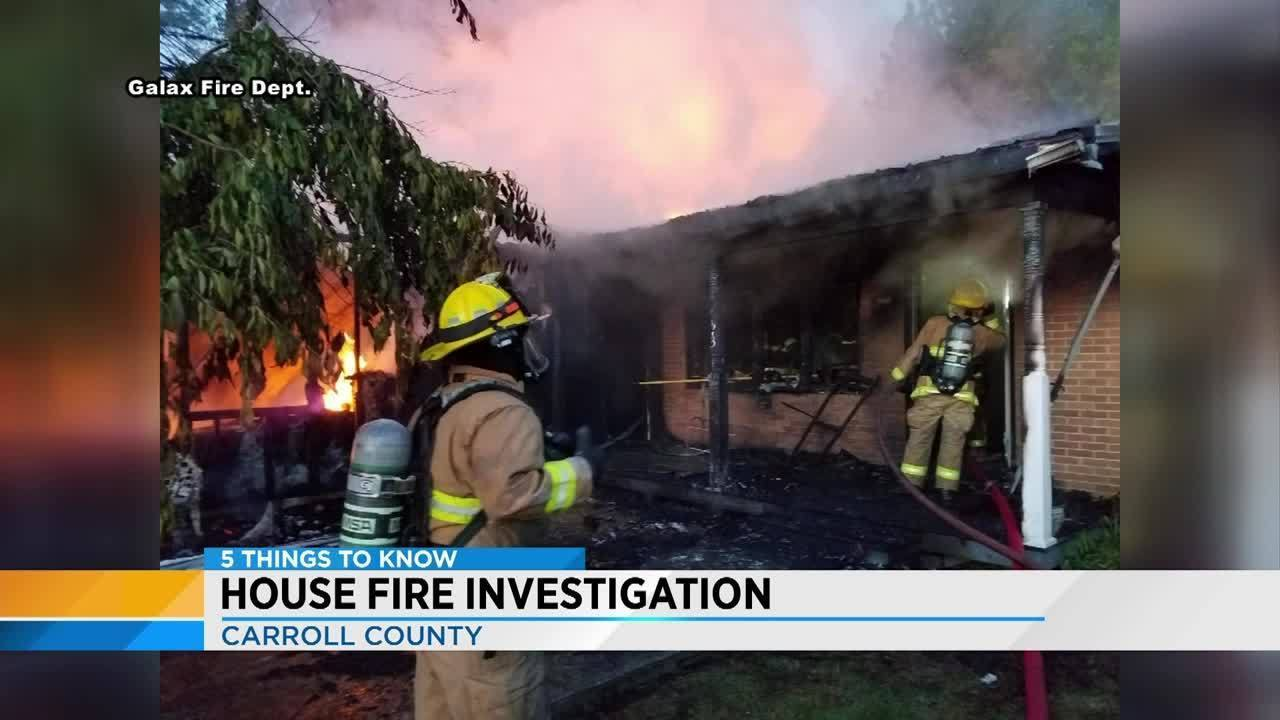 Crews respond to house fire in Carroll County