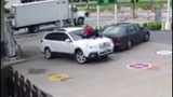 Wisconsin woman jumps on hood of her SUV to prevent theft