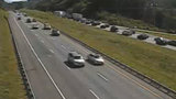 Interstate 81 backed up 10 miles in Botetourt County