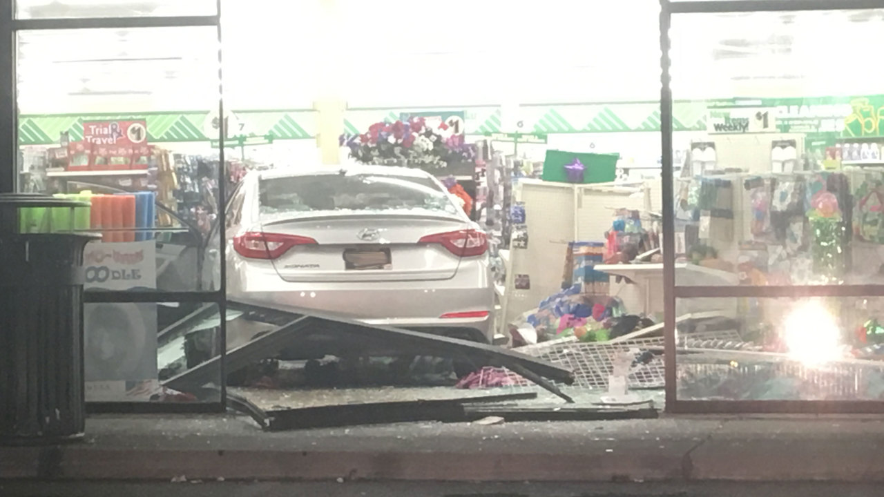 Car Crashes Into Dollar Tree