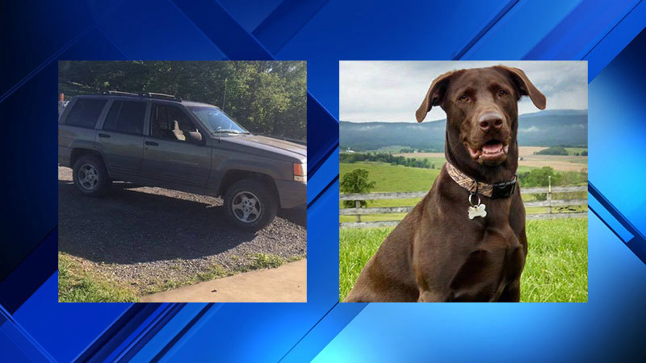 Jeep stolen with dog inside in Virginia