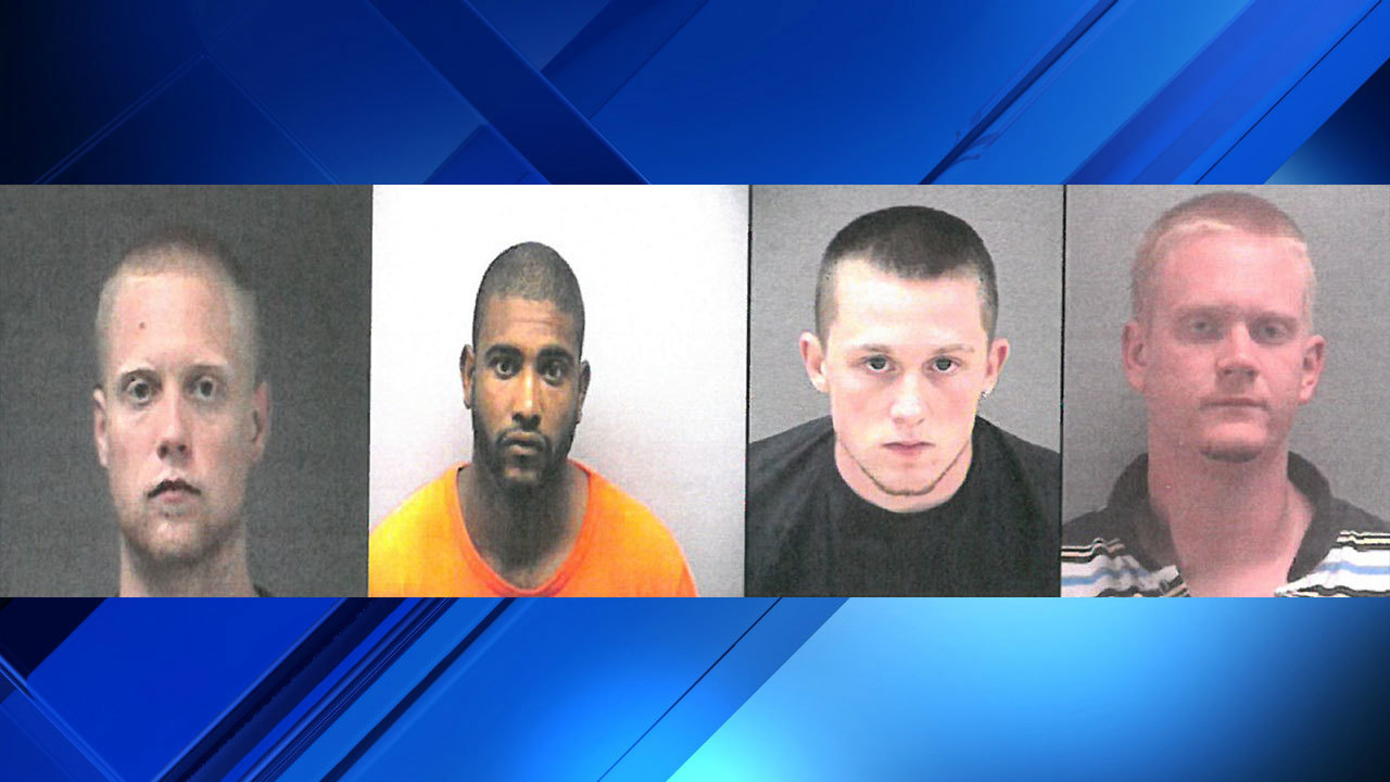 Four inmates charged in connection with delivering drugs to