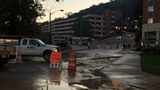 Water main break affects traffic near Carilion Roanoke Memorial Hospital