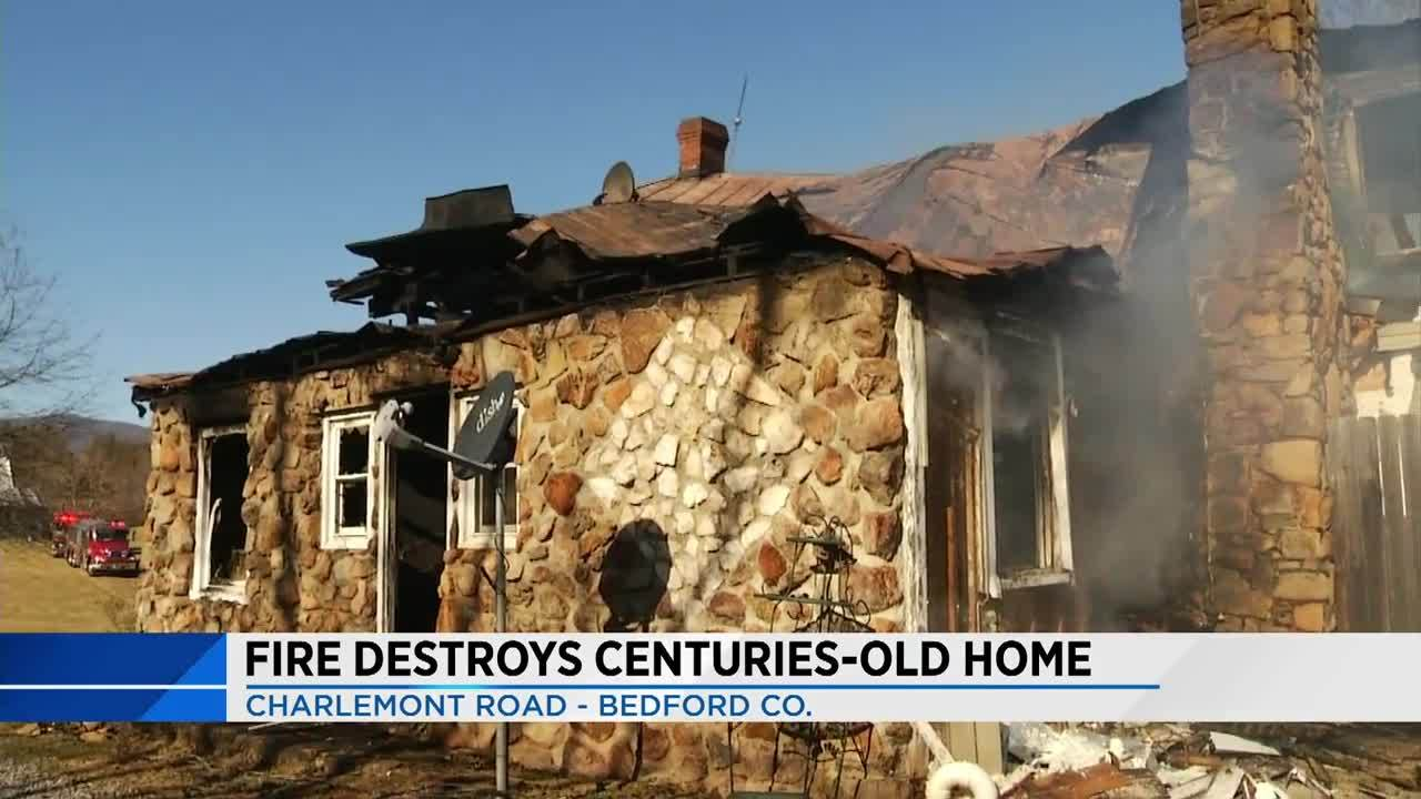 Fire destroys centuries-old home in Bedford County