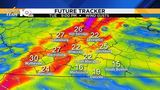 Rain moving out&#x3b; winds pick up Tuesday afternoon