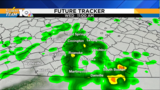 Showers continue Wednesday with clearing skies by the evening