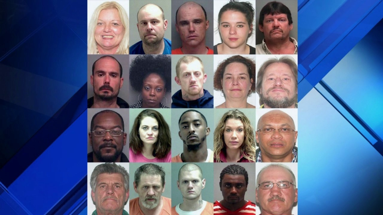 20 arrested on 41 drug counts, Martinsville authorities
