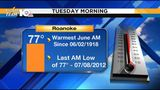 LOOKING BACK: Tuesday the warmest June morning in 100 years