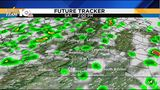 Gradual clearing, afternoon storms