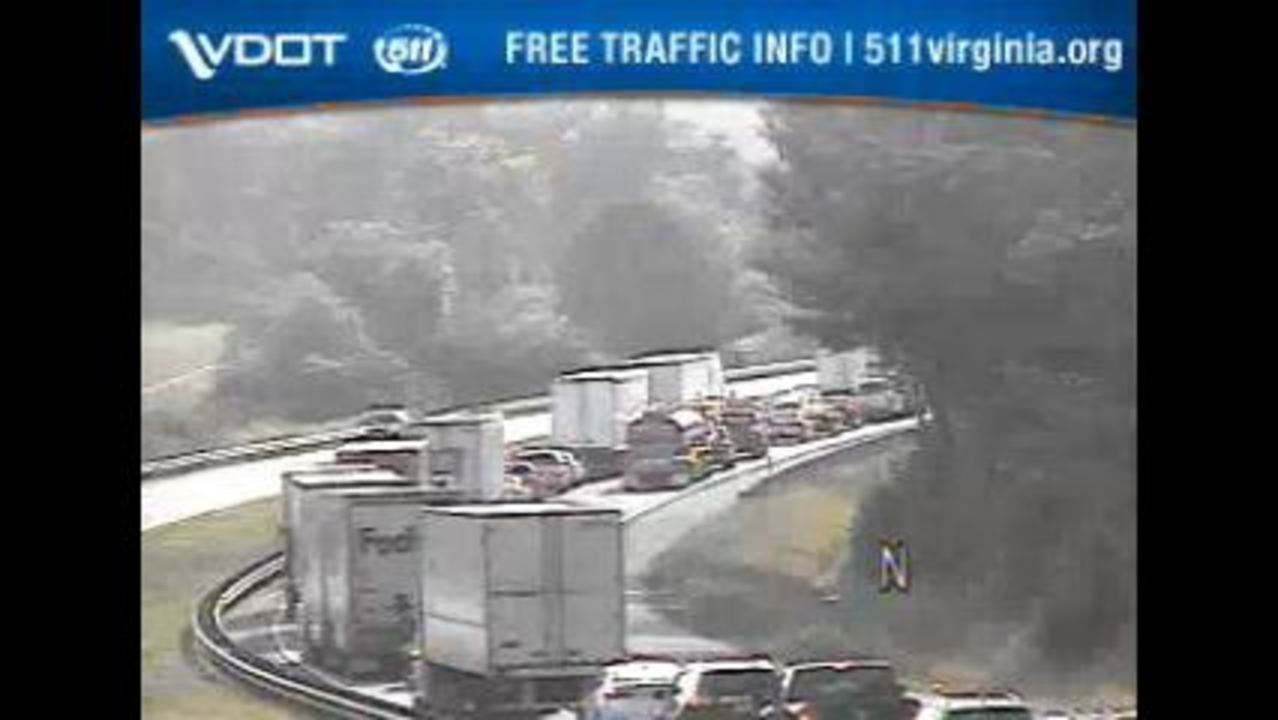 Tractor-trailer wreck causes major backup on I-81 North in