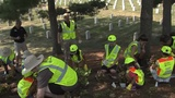 Landscapers from across the country volunteer at Arlington National Cemetery