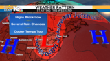 Change in pattern brings wetter, cooler weather