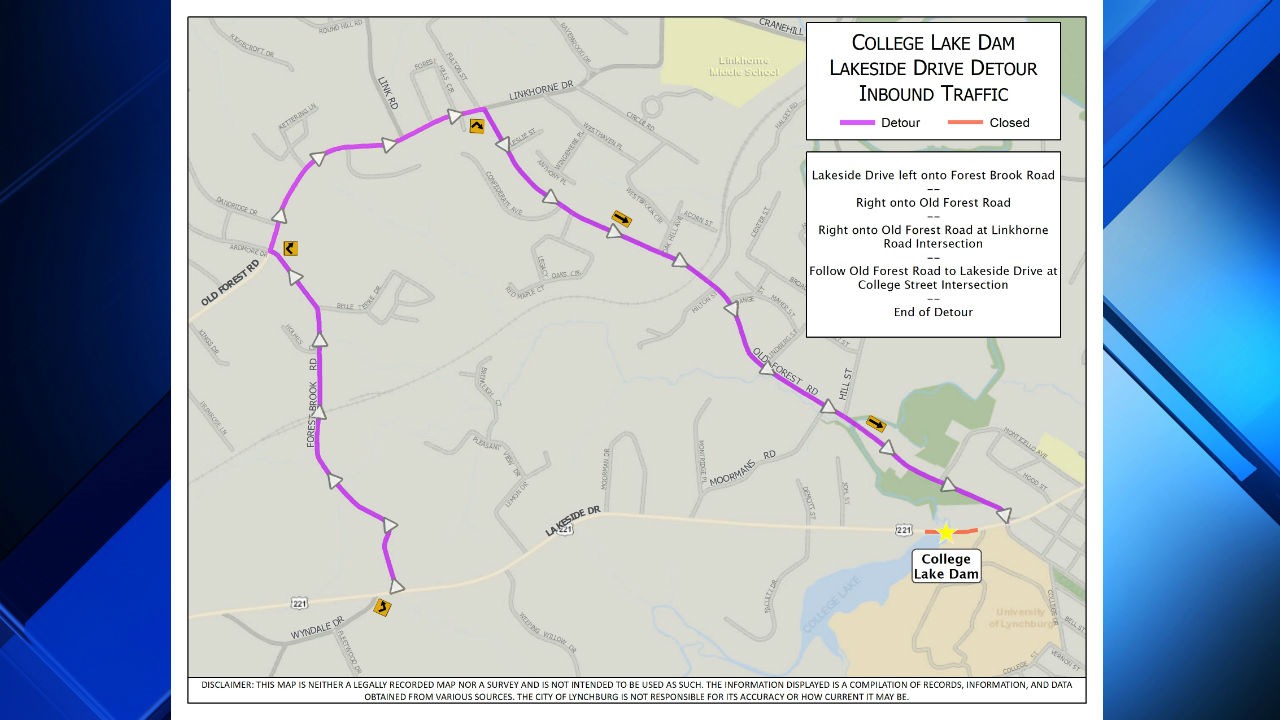 Lakeside Drive near College Lake dam, bridge to be closed for...