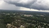 Richmond area tornado from an airplane