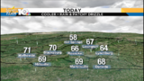 Cloudy and cooler Sunday