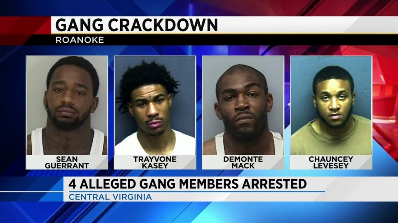 Four suspected Roanoke gang members indicted on conspiracy to