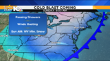 Blast of cold air enters region by Saturday night, Sunday