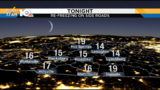 Refreezing Monday night&#x3b; temps drop into the teens