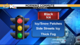 Slick, foggy and frigid morning commute