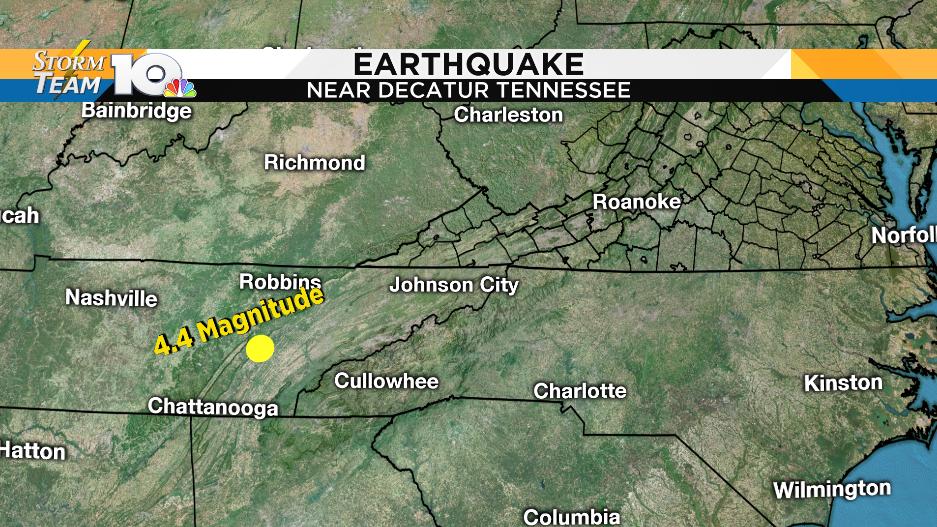 4.4 magnitude earthquake hits eastern Tennessee