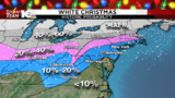 What are the chances Virginia sees a White Christmas?