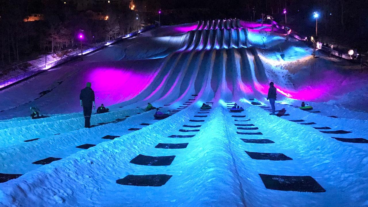 Cosmic Snow Tubing At Massanutten Resort