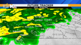 Rain continues overnight&#x3b; punch of cold air Sunday