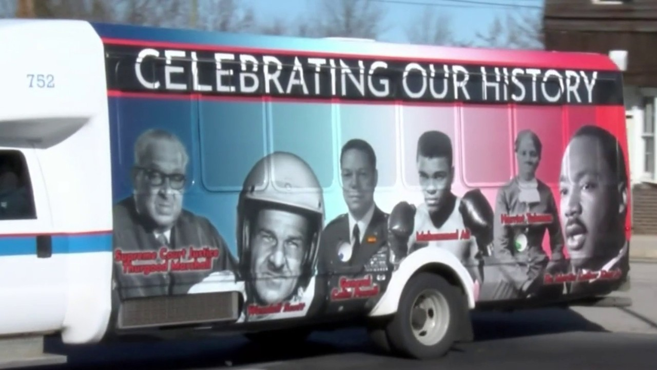 7bc2ebc51612 Danville using bus wrap to help celebrate Black History Month