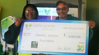 Campbell County couple wins $4 million from Virginia Lottery scratcher