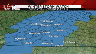 Winter Storm Watch issued for southwest, Central Virginia