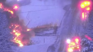 Driver survives tanker truck fire