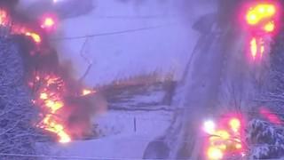 Driver survives tanker truck fire