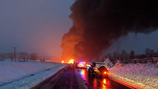 Massive fire blocks stretch of Route 220 in Botetourt County