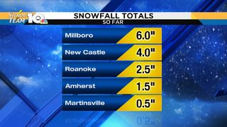 Snow and ice totals from around the area