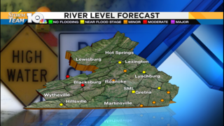 Excessive rainfall leads to rising river levels