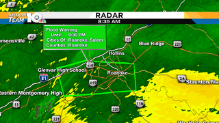 A flood warning is in effect for the Roanoke River.