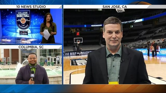 10 Sports team checks in live on location from NCAA Tournament sites