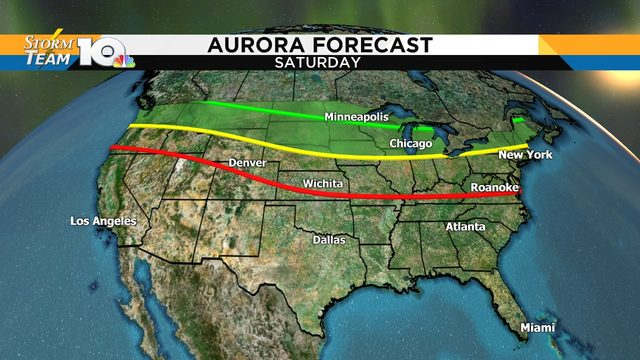 Northern Lights may be visible across northern U.S. Saturday