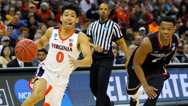 1-seed Virginia overcomes halftime deficit, beats No. 16 Gardner-Webb 71-56